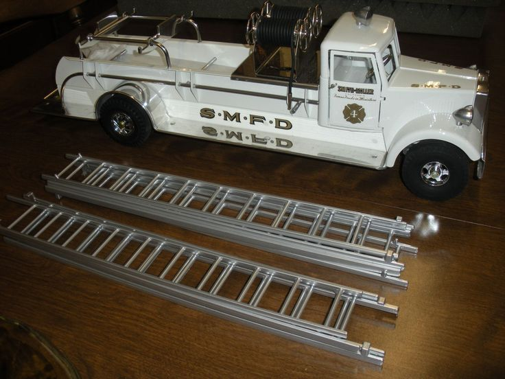 Vintage Toy Trucks Part - 38: Smith Miller S.m.f.d. Famous Trucks In Miniature White Fire Truck. Toy  TrucksFire TruckVintage ToysMiniature