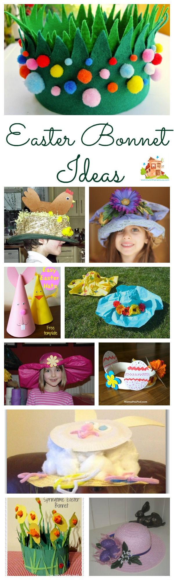 Fab selection of Easter Bonnet ideas and inspiration for decorating with kids, including boys, preschoolers and toddlers.