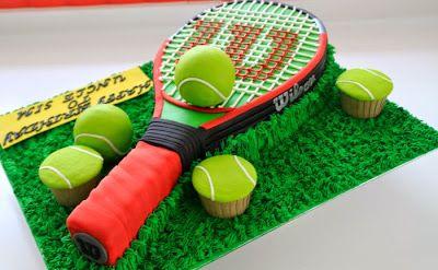 gateaux en forme de sports gateau tennis Etonnants gateaux en forme de sports sport ski skate ring peche gâteau football foot catch boxe...