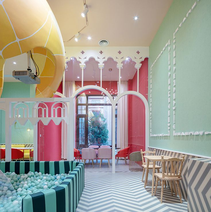 The recently completed Neobio Kids' Restaurant in Shanghai is a pastel-hued world of balloon and cloud shapes that decorate the various activity areas. The goal is to keep kids occupied long before and after they have finished their meals – a notion parents all over the world appreciate. While the environment is decidedly for kids, …