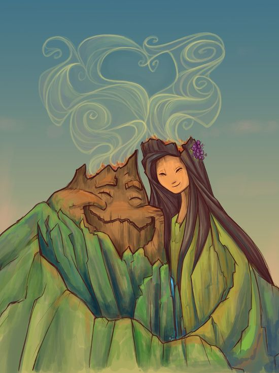Volcano Love (Amor Vulcânico) por Karen Hallion Illustrations