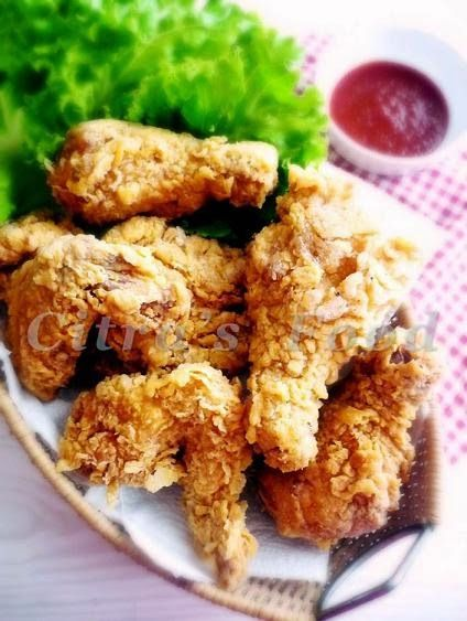 Citra's Home Diary: Crunchy (brined) Fried Chicken