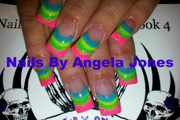 Love them! Acrylic nails by Angela Jones