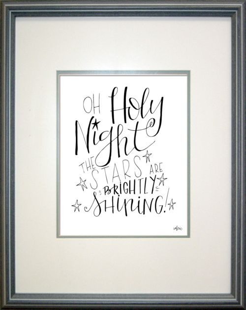 Valerie wieners lettering prints for christmas hand
