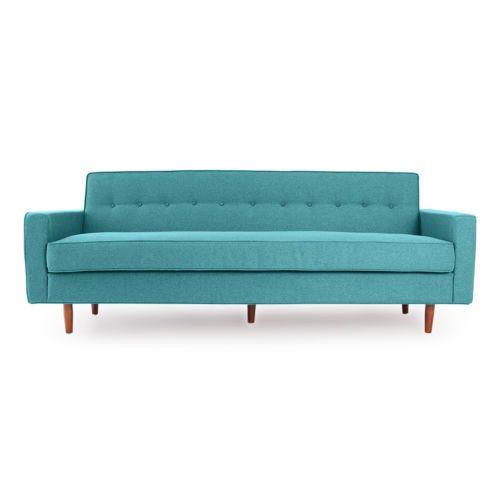 Eleanor-Mid-Century-Modern-Retro-Classic-Sofa-Dutch-Blue-Houndstooth-Twill