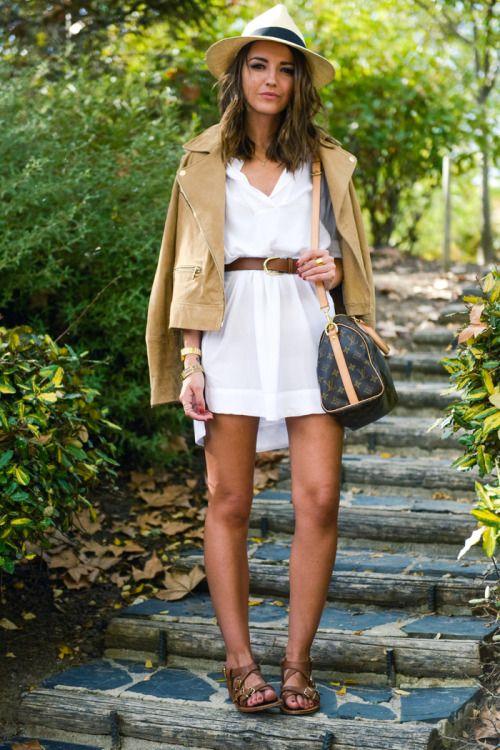 fashion-clue:  fashion-clue:  justthedesign:  Spice up a shirt dress with a belt and a leather jacket. Via lovelypepa Dress: Zara, Jacket: Mango, Sandals: Mango, Belt: Urban Outfitters  www.fashionclue.net| Fashion Tumblr, Street Wear & Outfits   www.fashionclue.net | Fashion Tumblr, Street Wear & Outfits