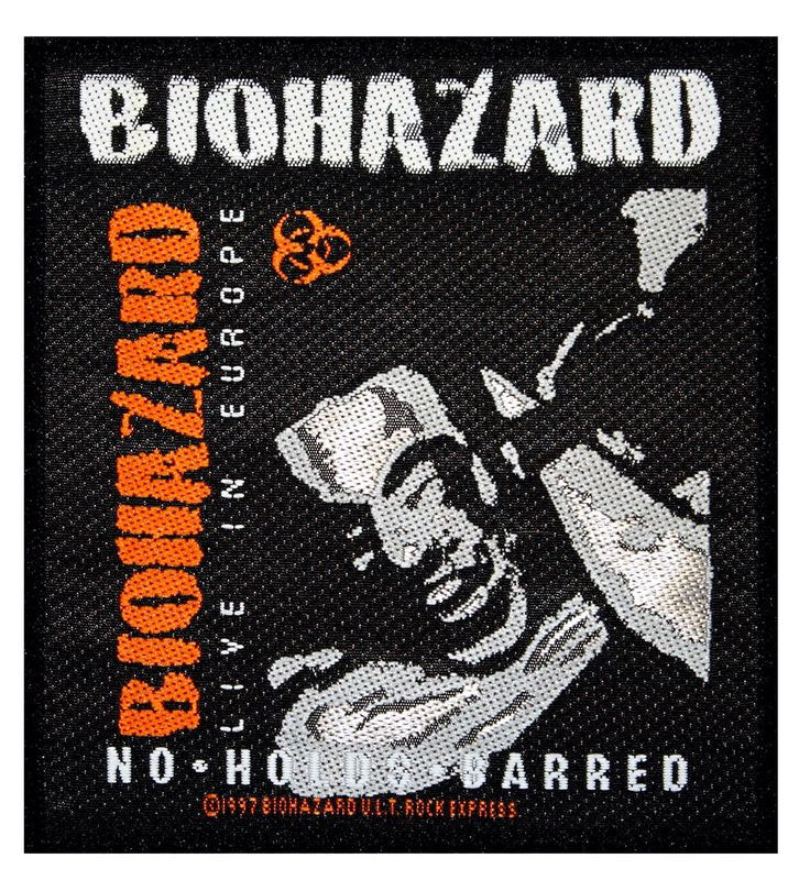 Biohazard Mata Leao Band Name & Logo Heavy Metal Album Sew On Applique Patch by YourPatchStore on Etsy https://www.etsy.com/listing/224325277/biohazard-mata-leao-band-name-logo-heavy