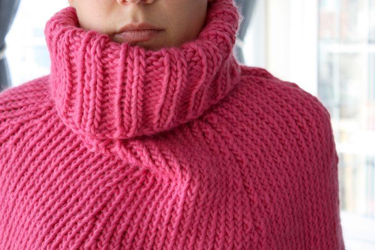 my knitting - me and the poncho! via 3polkadots