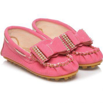Mocassim Infantil Tricae Com Lçao Em Strass Pink
