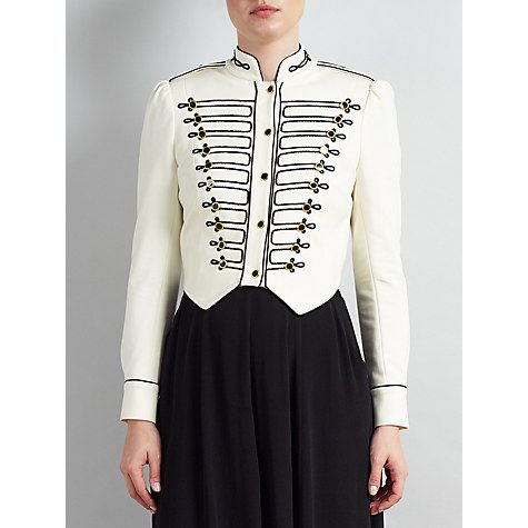 Buy Somerset by Alice Temperley Military Jacket, Ivory Online at johnlewis.com