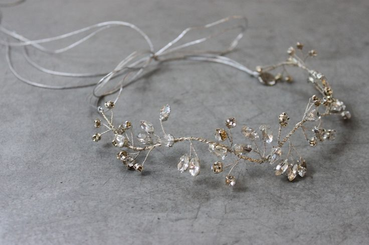 Decolve Northern Lights Evening Tiara handmade from silver crystals