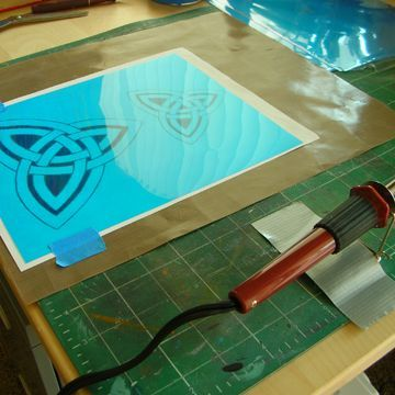 How to Make Stencils of your Own on http://www.createmixedmedia.com