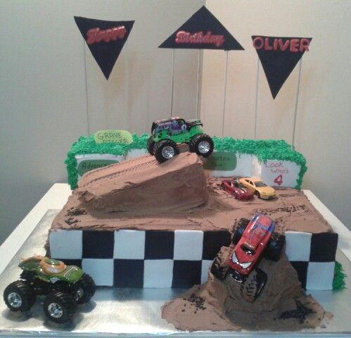 Monster truck cake!
