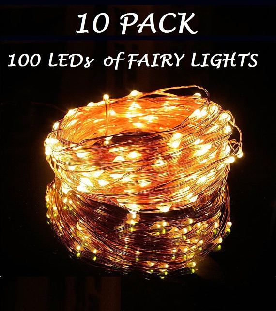 10 Pack of 100 LEDs Fairy Lights Wedding Decorations lights