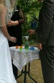Sand Ceremony, at Mambourin Sensory Gardens, Werribee, Victoria. .... Contact me for marriage celebrant services, Australia...