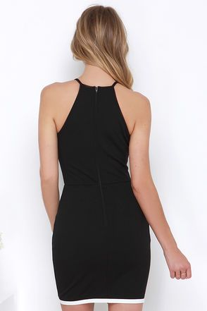 Made Me Famous Ivory and Black Dress at Lulus.com!