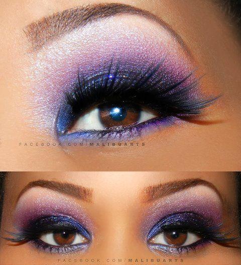 Purple. my favorite eye make up <3