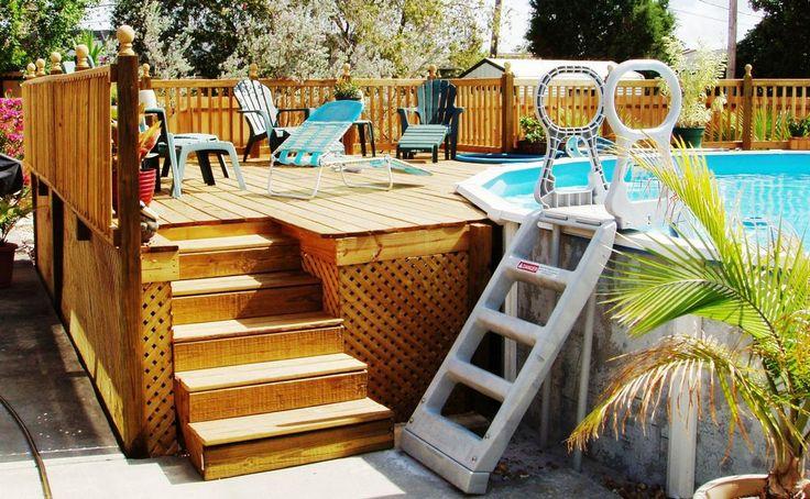 Above ground pool deck pools tiki bars pinterest - Above ground pool bar ...