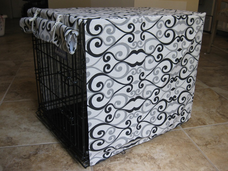 SMALL Dog Crate Cover- in your choice of fabric from the BLUE Collection. $55.00, via Etsy.