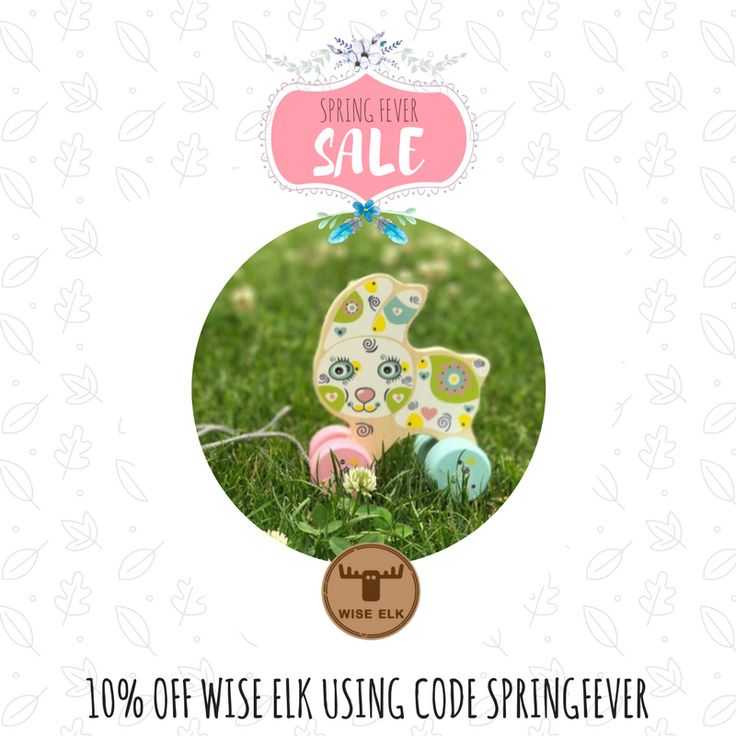 HANDMADE ECO WOODEN TOYS  10% off storewide. Valid until midnight Oct 1 Code: SPRINGFEVER