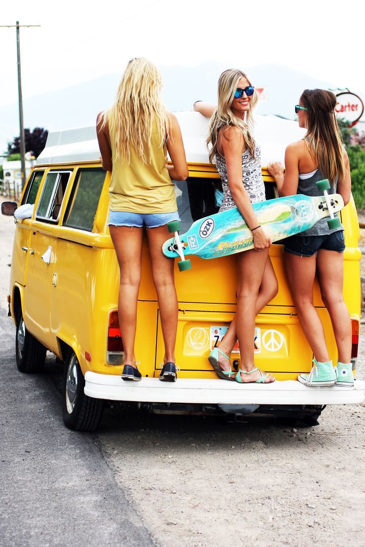 Surfer girls skate too!
