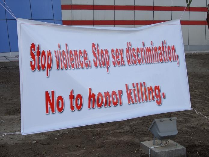 Find the real meaning of honor and put a stop to honor killing.