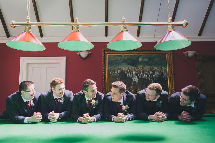 #grrom #bestman #ushers #groomsmen #snooker #kilts #tartan #carberrytower #jenowensimages