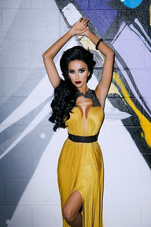 Chartreuse dress, Black crystals and Dresses on Pinterest