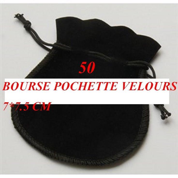 50   pochettes bourses en velours noir   ACCESSOIRE CREATION  bijoux  ou  maraige anniversaire