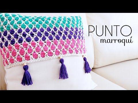 Punto marroqui a crochet paso a paso - Patrones Crochet                                                                                                                                                                                 Más