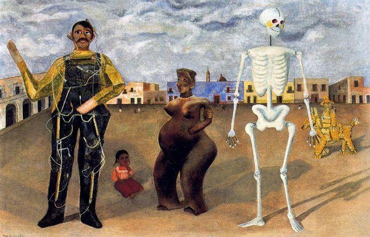"""""""Los Cuatro Habitantes de Mexico"""", öl von Frida Kahlo (1907-1954, Mexico)"""