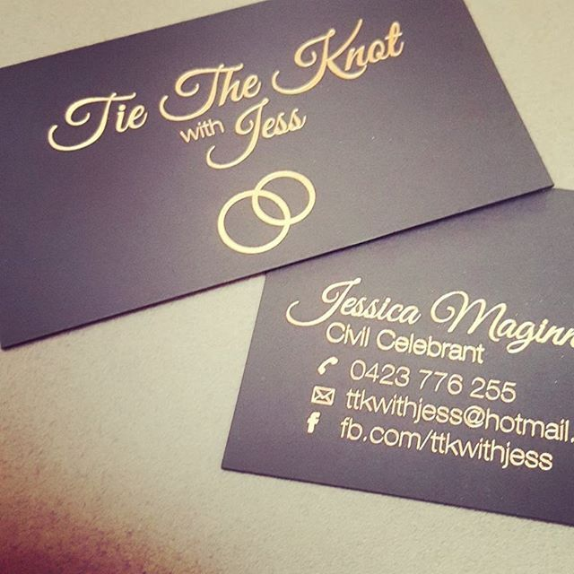 450gsm luxurious uncoated black artboard with rose gold foil on both sides. Very very nice. Delighted to print something so beautiful for Jess.
