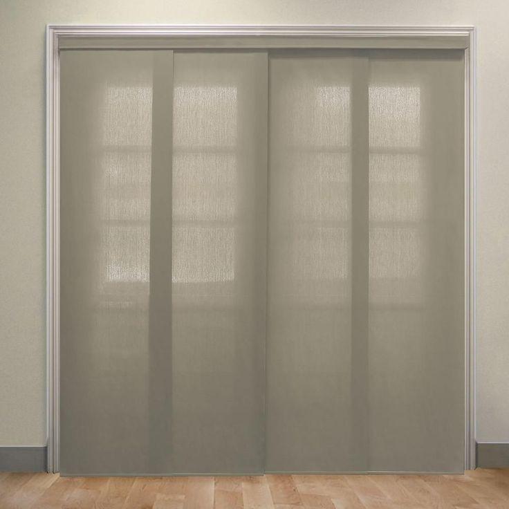 Chicology panel track blinds veil white cordless uv