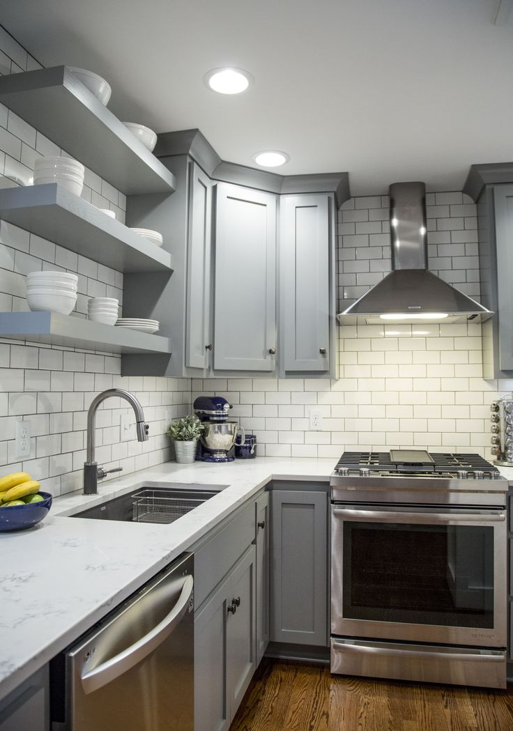Brite White Subway Tile 3x6 Classic French Gray Shaker