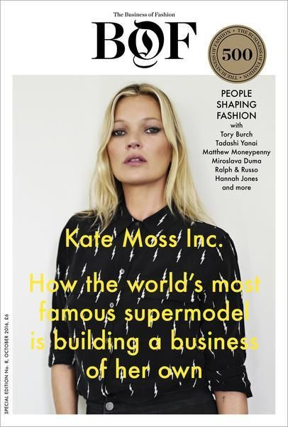 BoF Issue 08 : Kate Moss Inc. & BoF 500 2016 The issue also comes with a collectible BoF 500 directory, highlighting this year's new entrants, as well as th