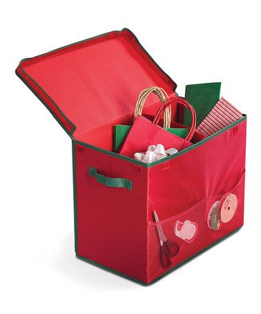 Another great find on #zulily! Red Gift Bag Storage Tote by homz #zulilyfinds