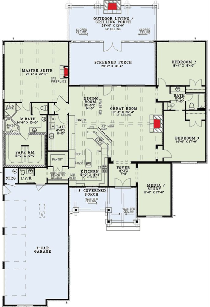 Plan 60671nd Rustic Mountain Home Plan Mountain House Plans Country Style House Plans Safe Room
