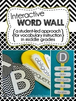 Interactive Word Wall for Middle Grades: Student Led Vocabulary Study $5