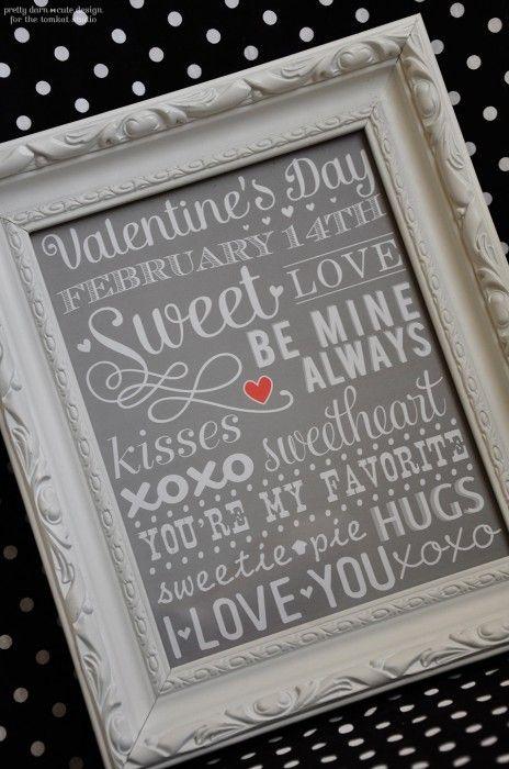 Pretty Valentine's Day Subway Art - The Greatest 30 DIY Decoration Ideas For Unforgettable Valentine's Day