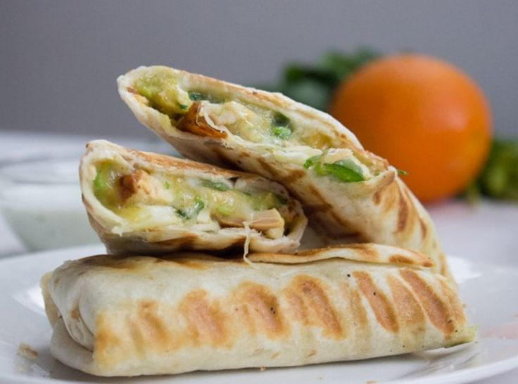 Chicken Avocado Burrito Wrap