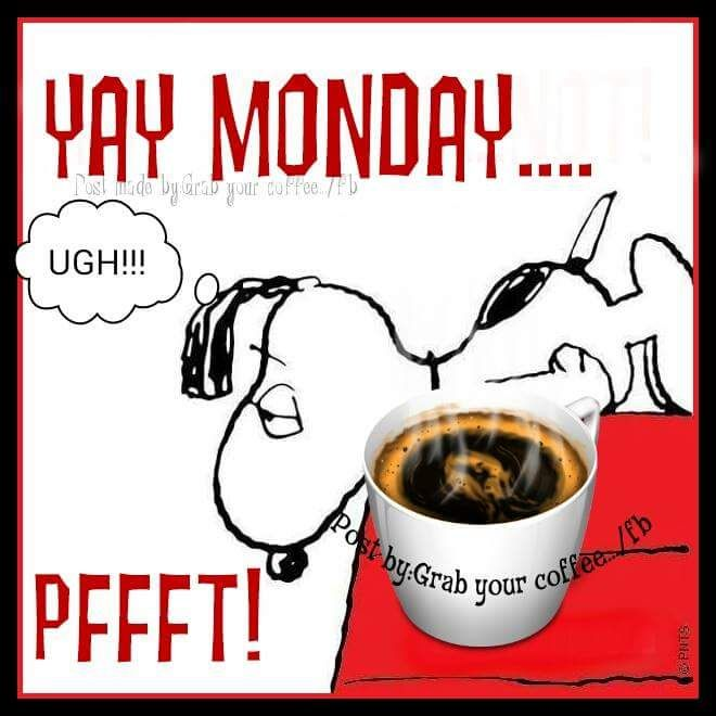 Snoopy Monday coffee quote