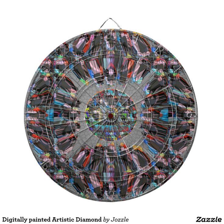Digitally painted Artistic Diamond Dart Board