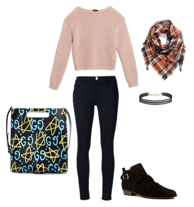 """""""❤️❤️❤️"""" by briana-maria-simon on Polyvore featuring beauty, Max&Co., Frame Denim, Naughty Monkey, BP., Humble Chic and Gucci"""