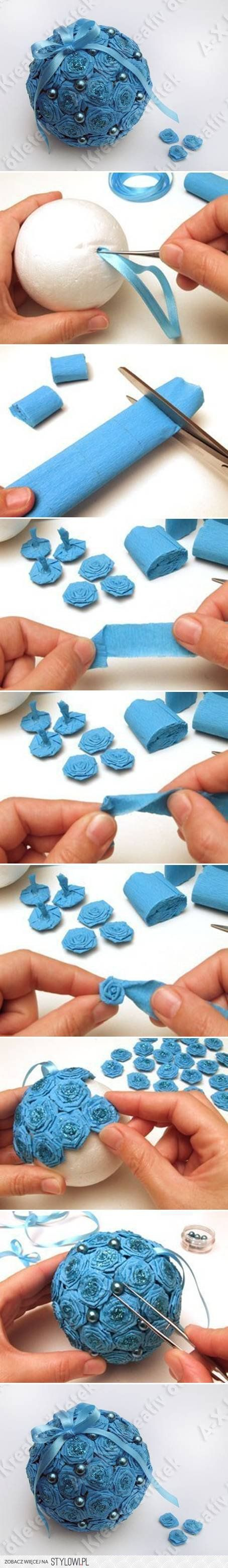 DIY Crepe Paper Flower Ball DIY Projects | UsefulDIY.co… na Stylowi.pl