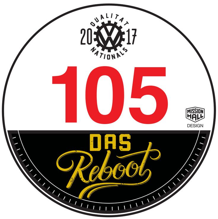 Registration Sticker. Event material from the 2017 New Zealand Volkswagen Nationals in Wellington.