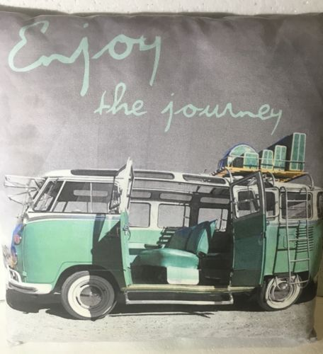VW-Kombi-Van-Pillow-Cushion-Gray-Green-Colour-VW-Beach-Ocean-Theme