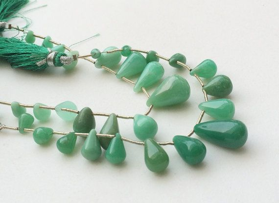 Chrysoprase Beads Green Chrysoprase Plain by gemsforjewels on Etsy