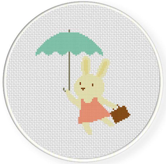 FREE Bunny Poppins Cross Stitch Pattern