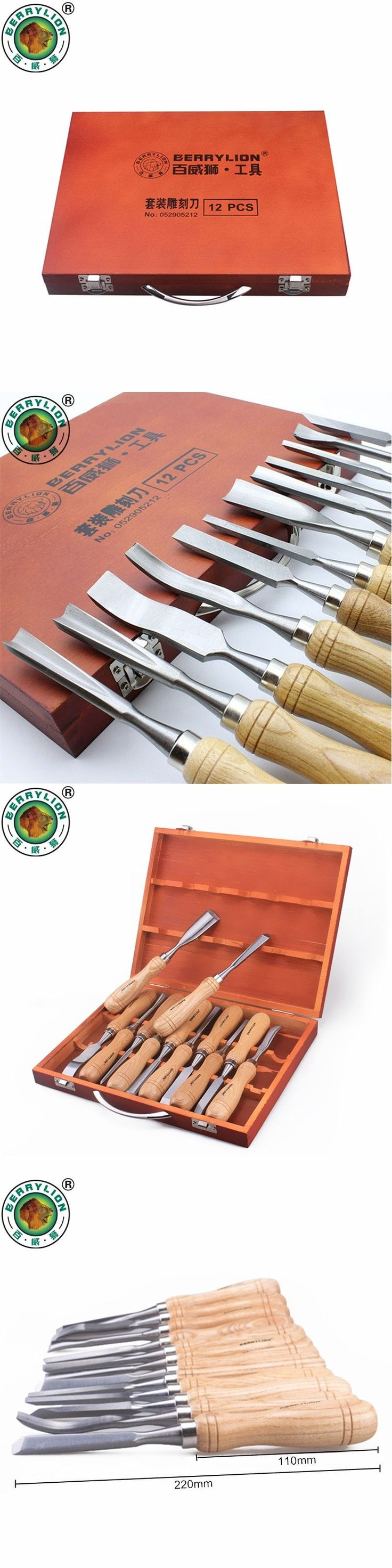 BERRYLION 12pcs Wood Carving Tools Set Wood Chisel Tools For Carving Wood Kit Wood Carving Knife Woodworking Hand Tools