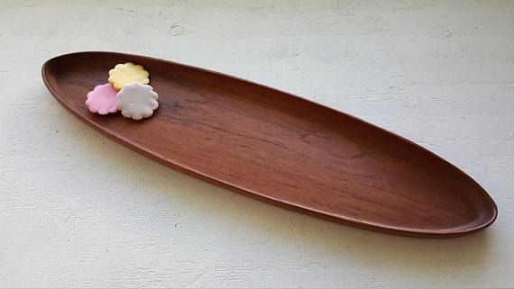 Finnish Vintage serving tray Bangkok-teak Made in